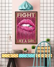 Breast Cancer Fight Like A Girl 16x24 Poster lifestyle-poster-6