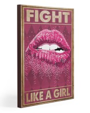 Breast Cancer Fight Like A Girl 20x30 Gallery Wrapped Canvas Prints thumbnail