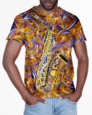 Saxophone Art Saxophonist Gift All-over T-Shirt aos-all-over-T-shirt-lifestyle-front-03