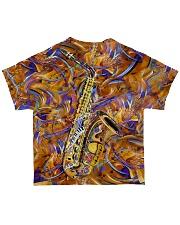 Saxophone Art Saxophonist Gift All-over T-Shirt back