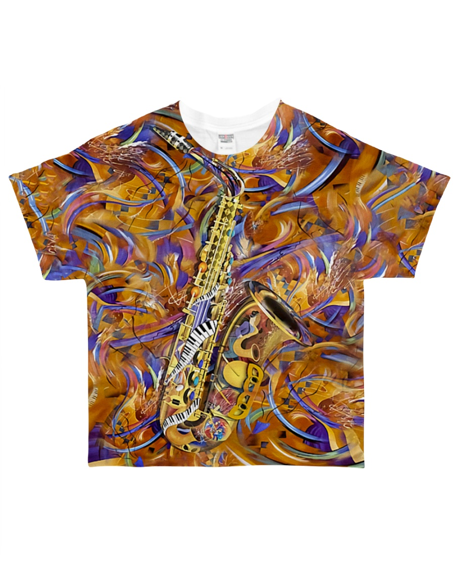 Saxophone Art Saxophonist Gift All-over T-Shirt