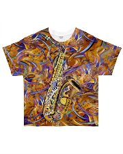 Saxophone Art Saxophonist Gift All-over T-Shirt front