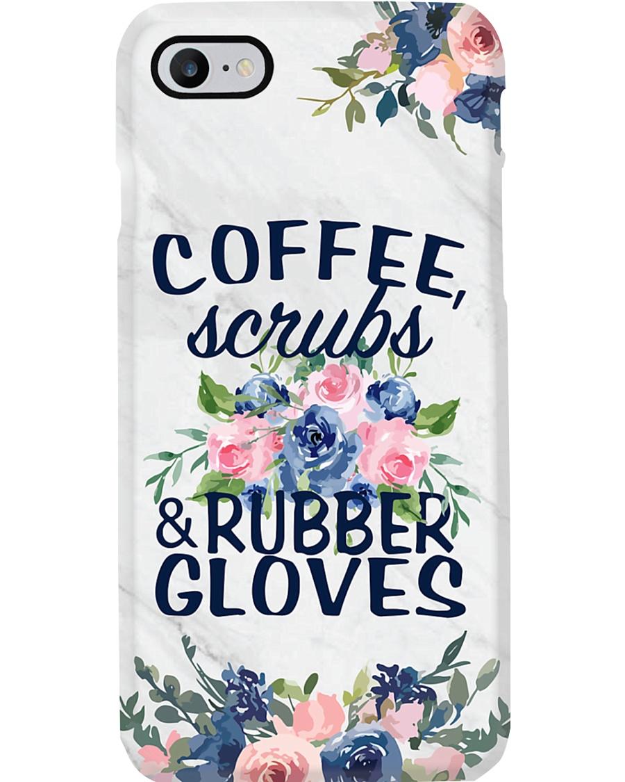 Nurse Coffee Scrub And Rubber Gloves Phone Case