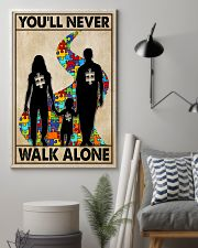Autism You Never Walk Alone 11x17 Poster lifestyle-poster-1