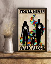 Autism You Never Walk Alone 11x17 Poster lifestyle-poster-3