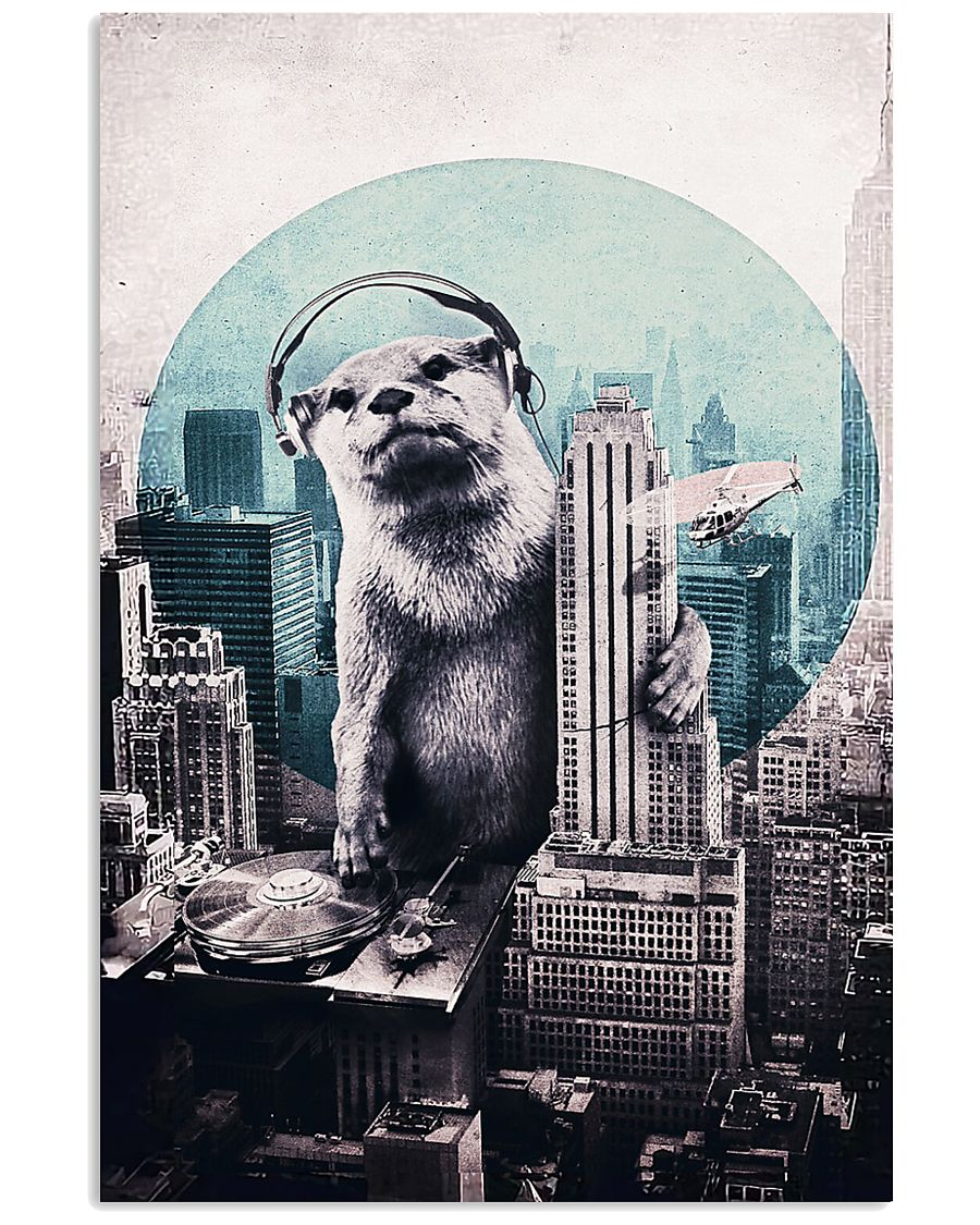 Otter in the city 11x17 Poster
