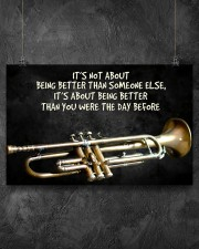 Trumpet Better Than You Were The Day Before  17x11 Poster aos-poster-landscape-17x11-lifestyle-12