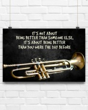 Trumpet Better Than You Were The Day Before  17x11 Poster aos-poster-landscape-17x11-lifestyle-17