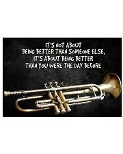 Trumpet Better Than You Were The Day Before  17x11 Poster front