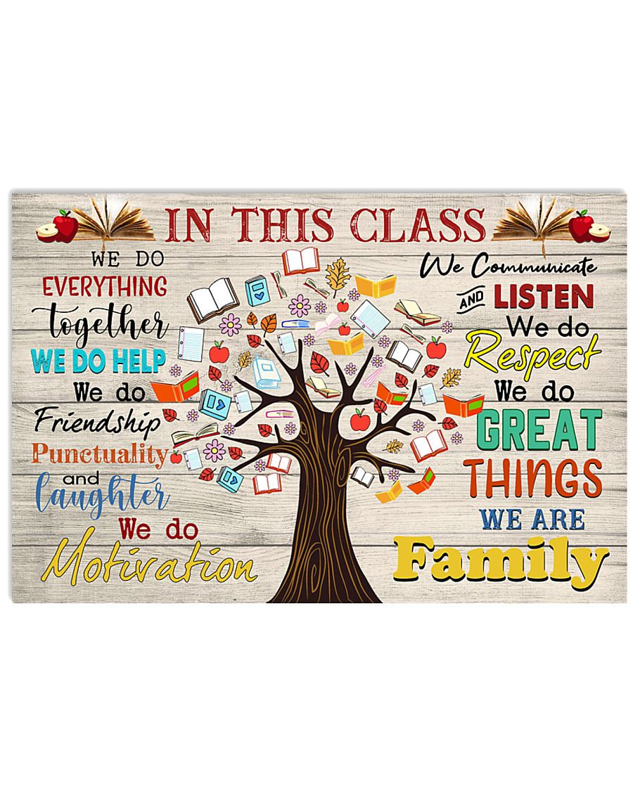 Teacher In This Class We Are Family 17x11 Poster