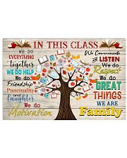 Teacher In This Class We Are Family 17x11 Poster front