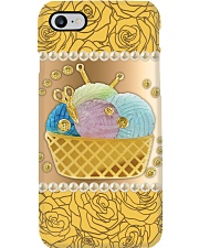Crochet And Knitting Tools Phone Case i-phone-8-case