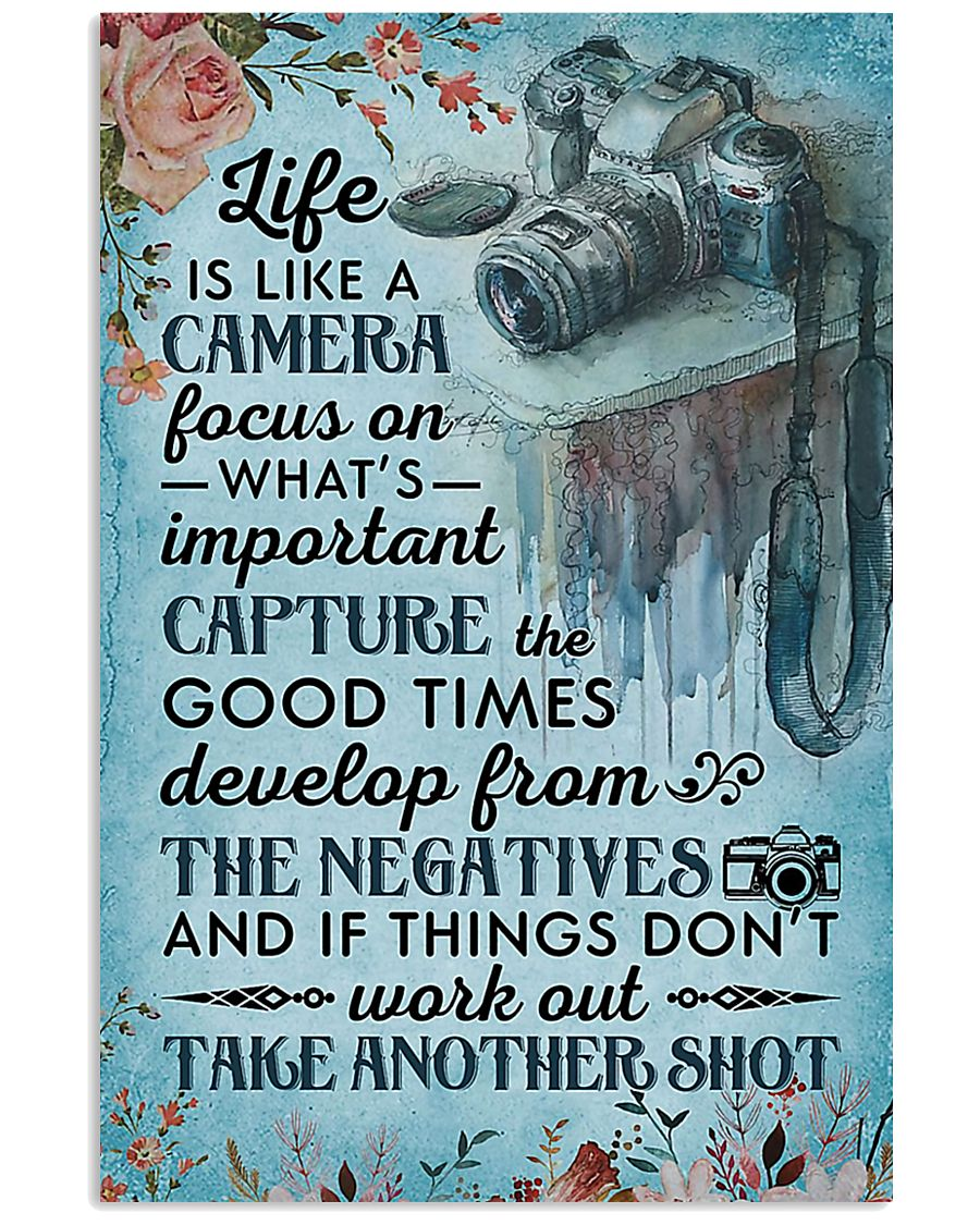 Photographer Life Is Like A Camera 11x17 Poster