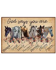 Horse Girl God Says You Are Unique 17x11 Poster front