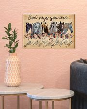 Horse Girl God Says You Are Unique 17x11 Poster poster-landscape-17x11-lifestyle-21