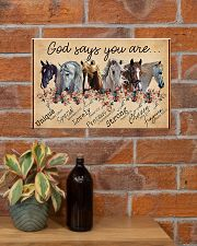 Horse Girl God Says You Are Unique 17x11 Poster poster-landscape-17x11-lifestyle-23