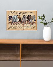 Horse Girl God Says You Are Unique 17x11 Poster poster-landscape-17x11-lifestyle-24