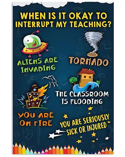 Teacher Interrupt My Teaching