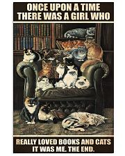 Librarian A Girl Who Really Loved Books And Cats 11x17 Poster front