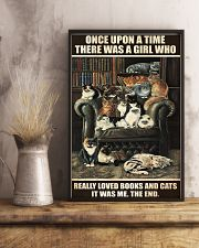 Librarian A Girl Who Really Loved Books And Cats 11x17 Poster lifestyle-poster-3