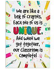 Unique Crayons Teacher  11x17 Poster front