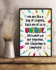 Unique Crayons Teacher  11x17 Poster lifestyle-poster-3