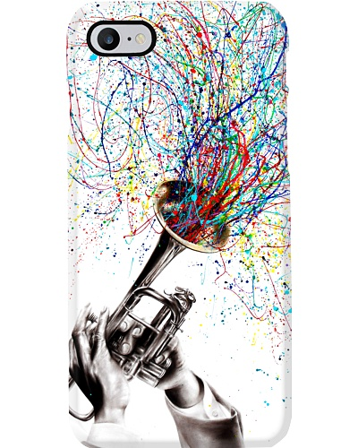 Trumpet Color Blowing Phonecase