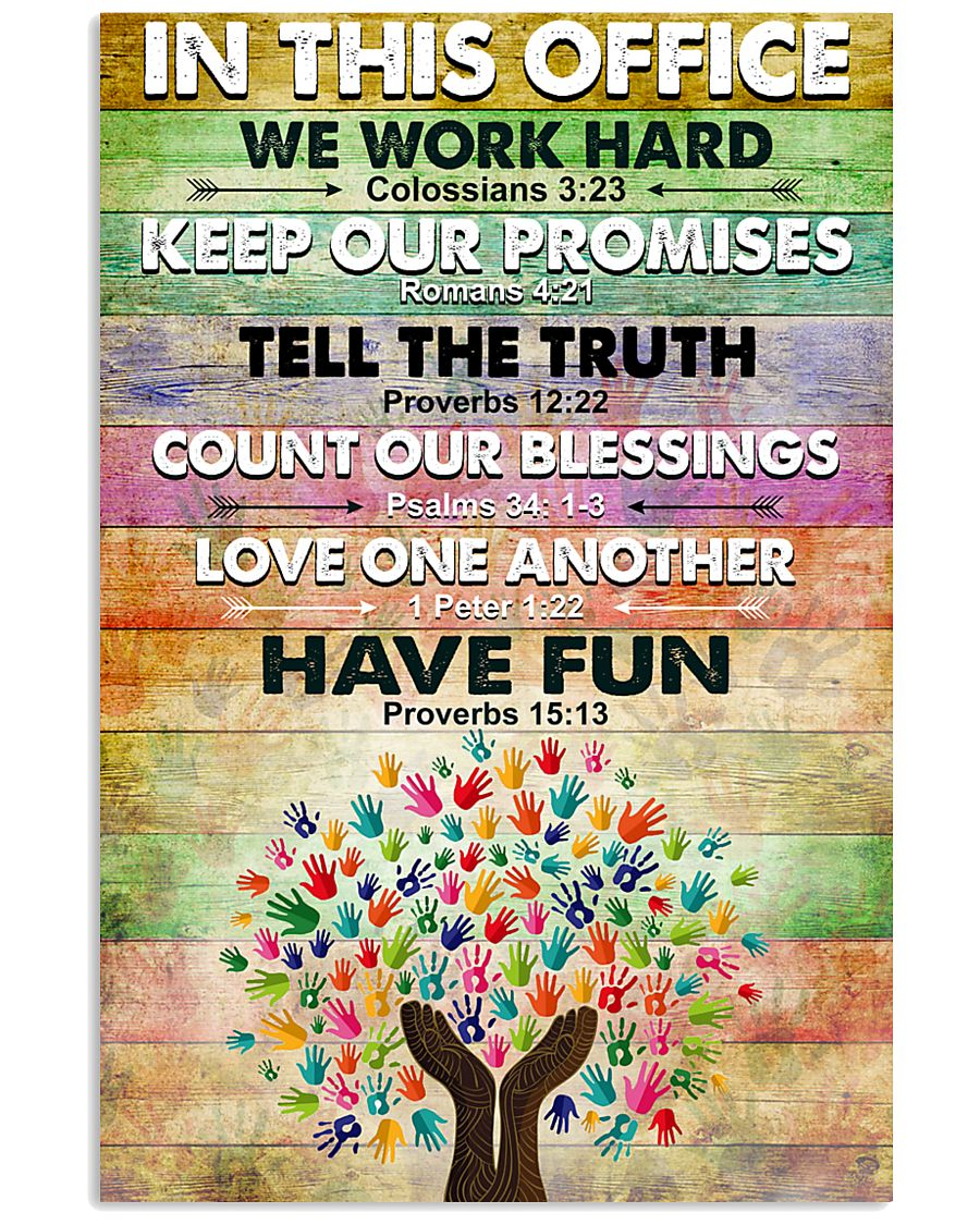 Occupational Therapist In This Office We Work Hard 11x17 Poster