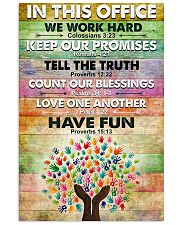 Occupational Therapist In This Office We Work Hard 11x17 Poster front