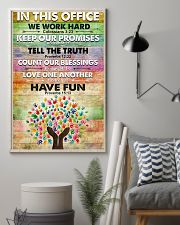 Occupational Therapist In This Office We Work Hard 11x17 Poster lifestyle-poster-1