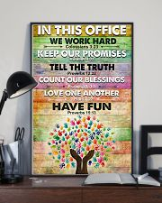 Occupational Therapist In This Office We Work Hard 11x17 Poster lifestyle-poster-2