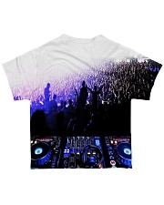 DJ In the crowd All-over T-Shirt back