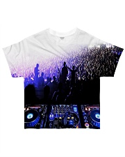 DJ In the crowd All-over T-Shirt front