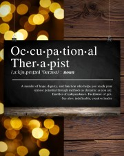 Occupational Therapist Definition  17x11 Poster aos-poster-landscape-17x11-lifestyle-29