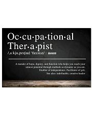 Occupational Therapist Definition  17x11 Poster front