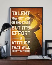 Saxophone - Talent may get you on the stage 11x17 Poster lifestyle-poster-2