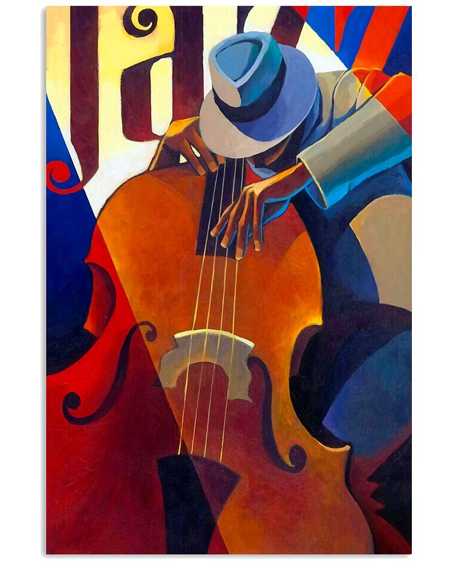 Contrabass Man Art 11x17 Poster
