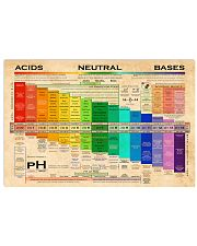 Chemistry pH Scale 17x11 Poster front