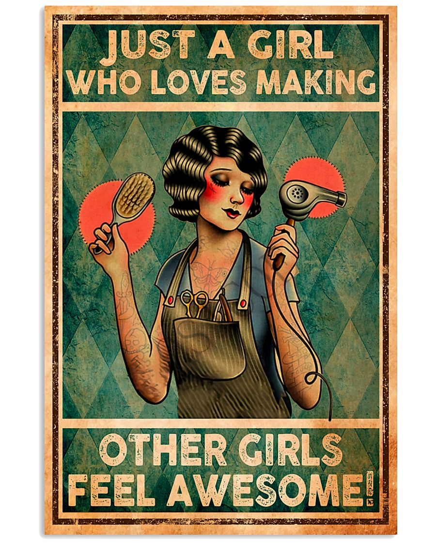 Hairdresser Girl Loves Making Other Awesome 11x17 Poster