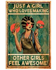Hairdresser Girl Loves Making Other Awesome 11x17 Poster front