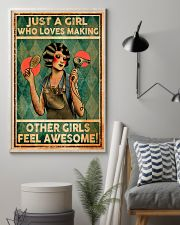 Hairdresser Girl Loves Making Other Awesome 11x17 Poster lifestyle-poster-1