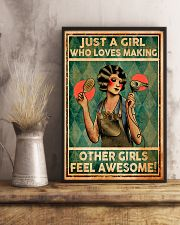 Hairdresser Girl Loves Making Other Awesome 11x17 Poster lifestyle-poster-3