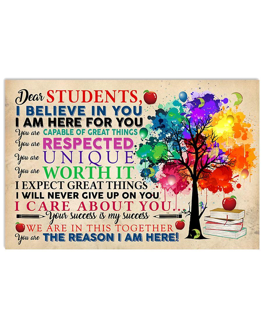 Speech Language Pathologist Dear Students 17x11 Poster