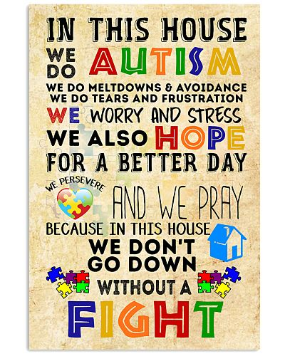 Autism Awareness In this house We do Autism Poster