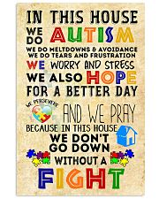 Autism Awareness In this house We do Autism Poster 24x36 Poster front