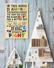 Autism Awareness In this house We do Autism Poster 24x36 Poster lifestyle-holiday-poster-2