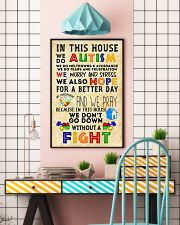 Autism Awareness In this house We do Autism Poster 24x36 Poster lifestyle-poster-6