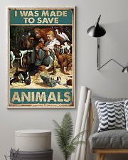 Veterinarian I Was Made To Save Animals 11x17 Poster lifestyle-poster-1