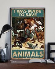Veterinarian I Was Made To Save Animals 11x17 Poster lifestyle-poster-2