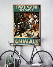 Veterinarian I Was Made To Save Animals 11x17 Poster lifestyle-poster-7